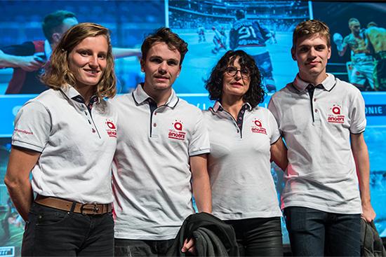 Amandine Brossier, Matéo Bohéas, Claire Supiot et Mathieu Rousselot composent la Team Angers Sport.
