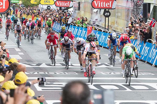 Arrivée à Angers du Tour de France 2016