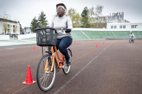 Photo d'une séance de vélo-école.