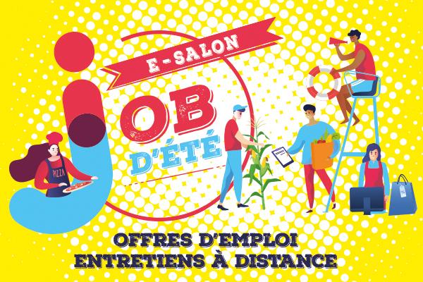 """Salon en ligne """"job d'été"""" du 19 au 23 avril 2021"""