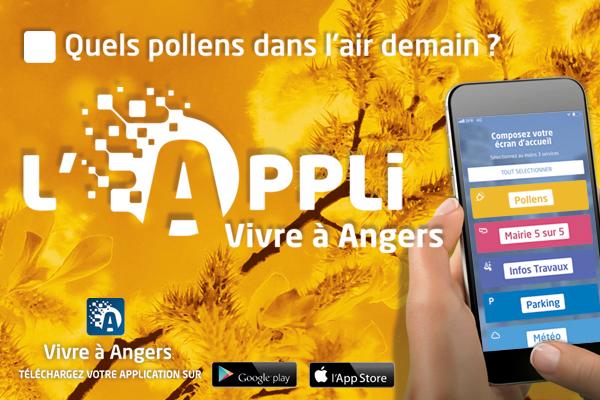 """Les """"alertes pollens"""" arrivent dans l'appli Vivre à Angers"""