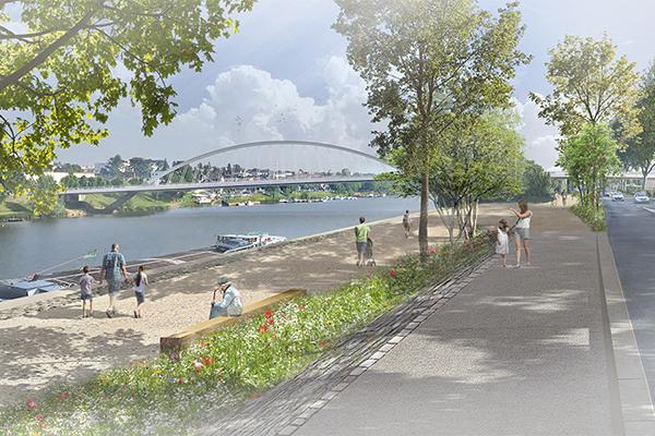 Image d'illustration du projet Rives Vivantes, vue quai Félix-Faure.