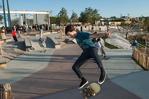 Le nouveau parc Saint-Serge accueille notamment un skateparc de 1200 m².