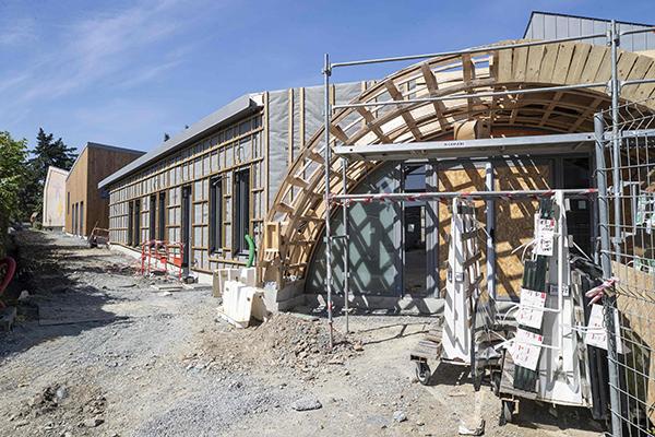 L'école Pierre-et-Marie-Curie en plein chantier!