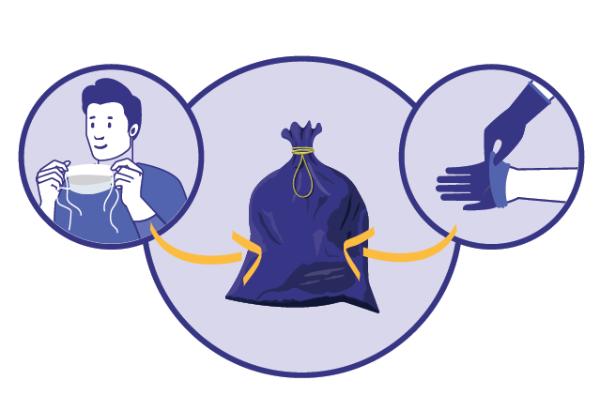 Les bons gestes face au coronavirus: où jeter masques et gants?