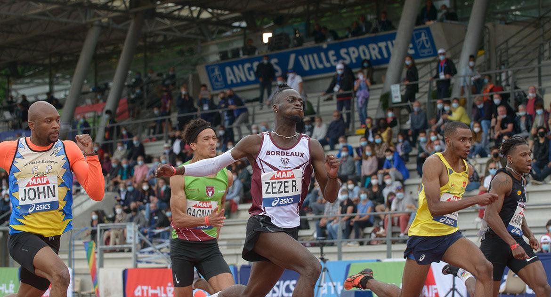 Photo de série sur le 100m masculin