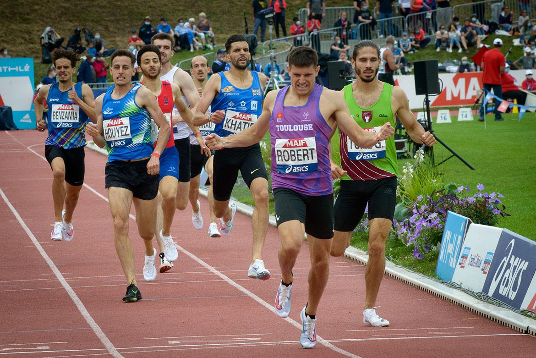 Photo de la finale du 800m