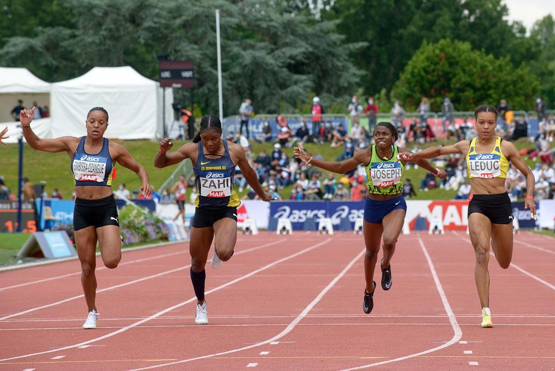 Photo de la finale du 100m féminin.