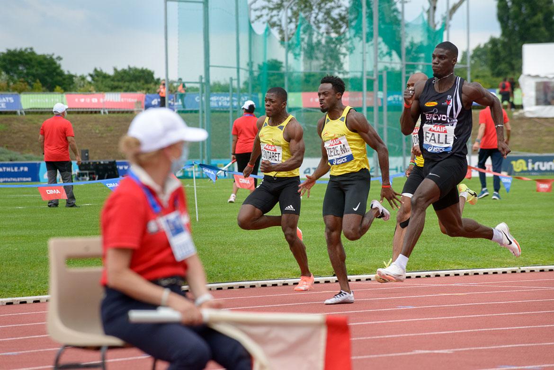 Photo de la finale du 100m masculin