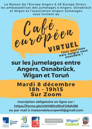 Café européen virtuel sur les jumelages