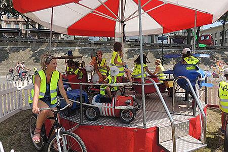 Manège à vélo éco-citoyen