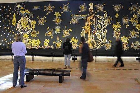 Atelier de tissage au musée Jean-Lurçat et de la Tapisserie contemporaine