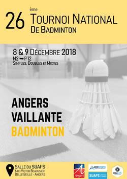 26ème Masters Nationaux de la Vaillante Badminton