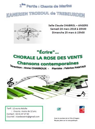 Concert annuel de la chorale