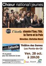 """Image Concert Choeur National des Jeunes """"L'école"""""""
