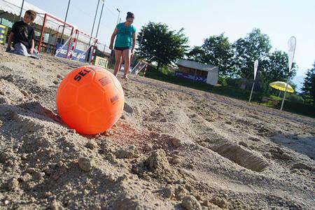 Parcours et défis sandball