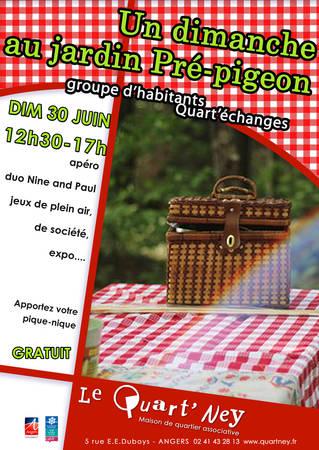 Un dimanche au jardin Pré-pigeon