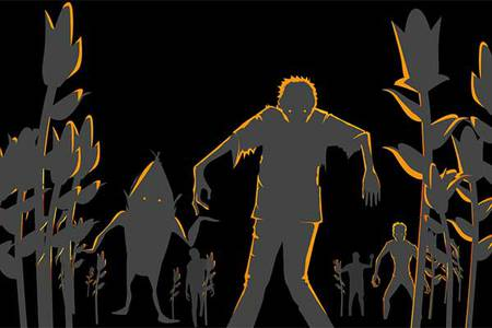 Nuit de l'horreur au milieu du labyrinthe de maïs