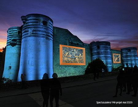 Exposition lumière sur les remparts du Château d'Angers